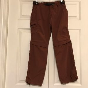 REI Rust Colored Convertible Pants